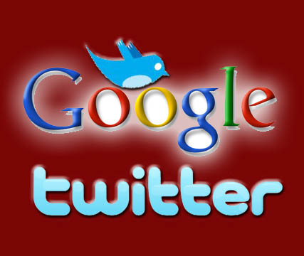 Combination of google and twitter