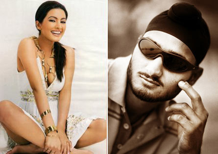 Harbhajan Singh With His Girl Friend Geeta Basra