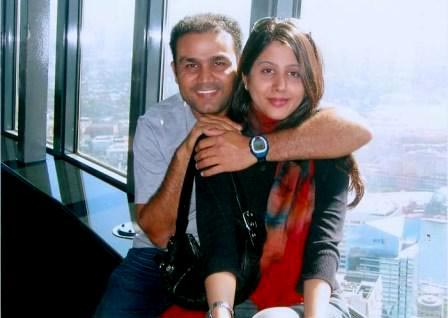 Sehwag And Aarti Sehwag