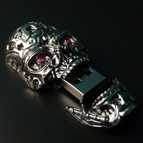 Terminator Salvation T-600 USB Skull - Innovative Product Designs and Gadgets