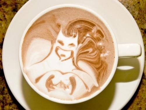 Batman Foam Art