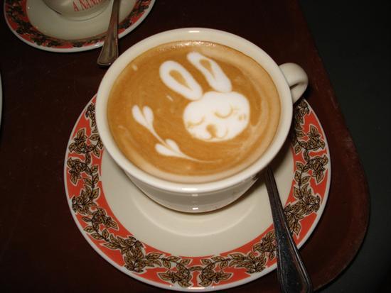 Coffee Foam Art  Bunny